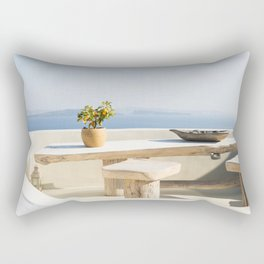 Santorini, Greece #society6 #decor #buyart Rectangular Pillow