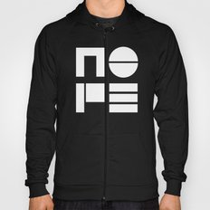 Nope in Black and White Hoody