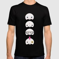 Cute skulls MEDIUM Mens Fitted Tee Black