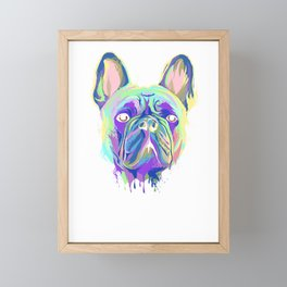 Splash French Bulldog T-Shirt Colorful Puppy Gift Idea Framed Mini Art Print