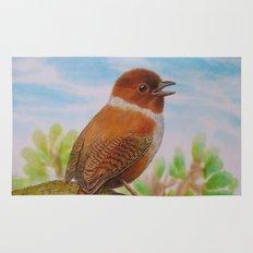 A Brown Bird Rug