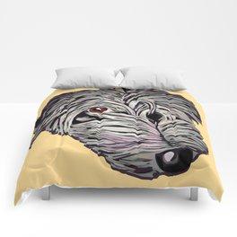 Colourful lurcher / deerhound / wolfhound /elkhound Comforters