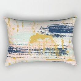 Blush, Gold, Navy, White, Mint Abstract  Rectangular Pillow