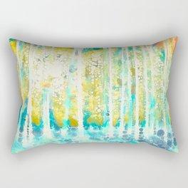 Sherwood Pines Abstract Art Rectangular Pillow