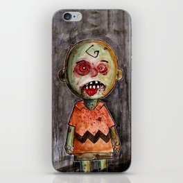 You're a zombie Charlie Brown iPhone Skin