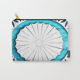 Ornate Wooden Wheel of Life Carry-All Pouch