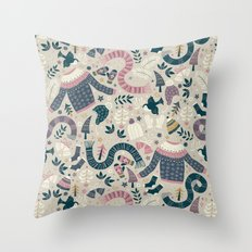Winter Woolies Throw Pillow