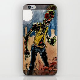 zombie in the ruins iPhone Skin