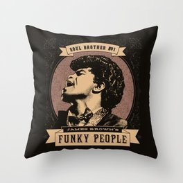 James Brown's Funky People Throw Pillow