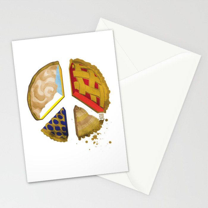 Pie of peace Stationery Cards