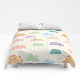 Colorful clouds Comforters