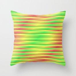 Tricolor 3D Slats Throw Pillow