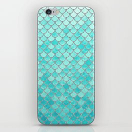 Teal Mermaid Scales iPhone Skin