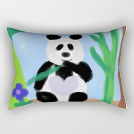 It's a Panda's World of Love 3 Rectangular Pillow
