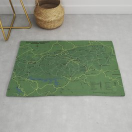 The Great Smoky Mountains National Park Map (1971) Rug