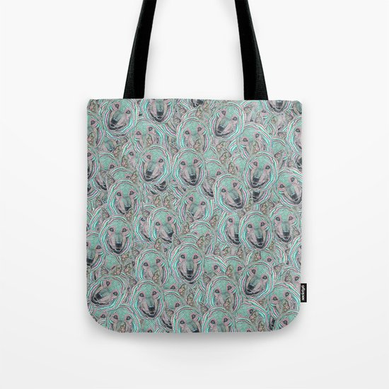 Power Wolf Pattern Tote Bag