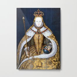 Queen Elizabeth I of England in Her Coronation Robe Metal Print