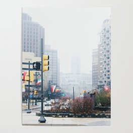 Philadelphia City Hall in Fog Poster