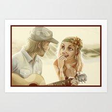 Guitar Serenade Art Print