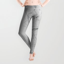 Silver Splatter 089 Leggings