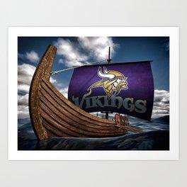 Viking Ship Art Print