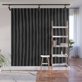 Black and Grey Stripe Wall Mural
