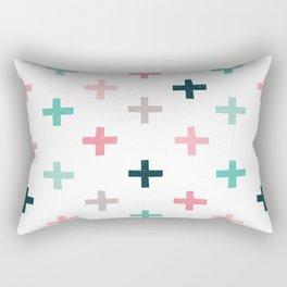 SWISS CROSSES - BLUSH PINK and MINT Rectangular Pillow