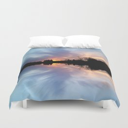 Sunset Brushstrokes Duvet Cover