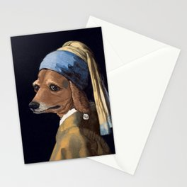 DOG WITH A PEARL EARRING Stationery Cards