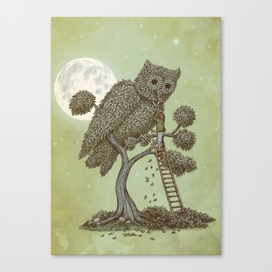 The Night Gardener (Colour Option) Canvas Print