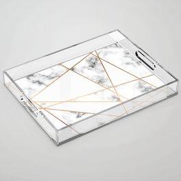 Marble Geometry 054 Acrylic Tray