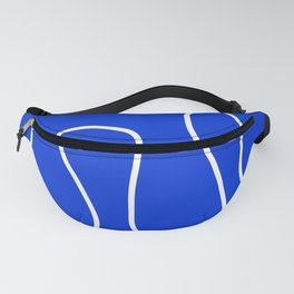 Blue Abstract Wave Fanny Pack