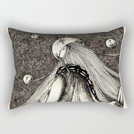 Lady of the mountains Rectangular Pillow