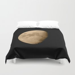 4K Dark Side of the Moon Golden Yellow Duvet Cover