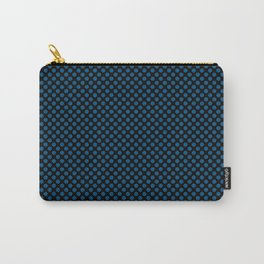 Black and Snorkel Blue Polka Dots Carry-All Pouch