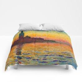 """Claude Monet """"San Giorgio Maggiore at Dusk"""" Comforters"""
