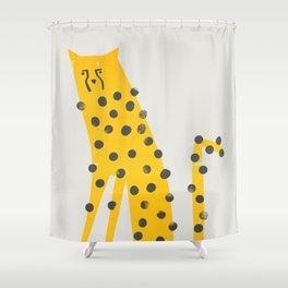 Speedy Cheetah Shower Curtain