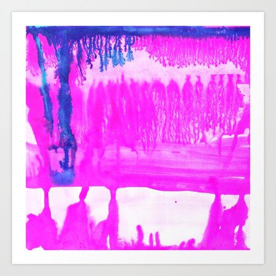 Dip Dye Hot Pink Art Print