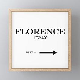 Florence Framed Mini Art Print