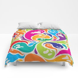 Halloween colorful ghosts seamless pattern Comforters