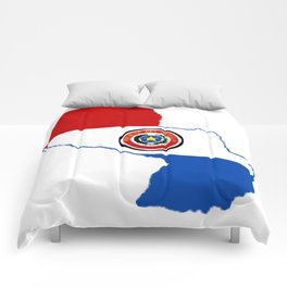 Paraguay Map with Paraguayan Flag Comforters