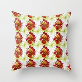 Floral Skullz (Pattern) Throw Pillow