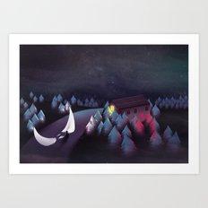 Gravity (Moon in the River) Art Print