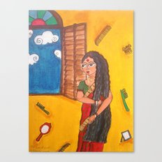 Ma by the window Canvas Print