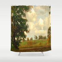 country Shower Curtains featuring Country Roadside by J&C Creations