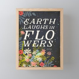 EARTH LAUGHS IN FLOWERS Framed Mini Art Print