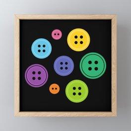 Colorful Rainbow Buttons Framed Mini Art Print