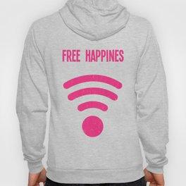 Free Happines Poster Yellow Hoody