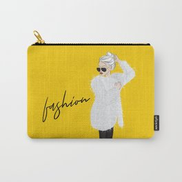 Girl in fluffy fur Carry-All Pouch