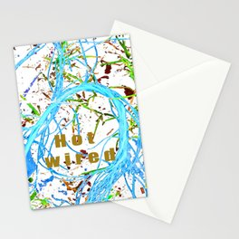 Hot wired sky blue Stationery Cards